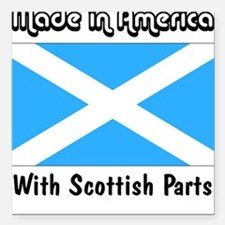Scottish Parts Square Car Magnet