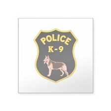 "K9 Police Officers Square Sticker 3"" x 3"""