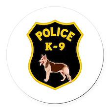 K9 Police Officers Round Car Magnet