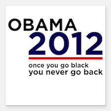 Obama 2012 Square Car Magnet