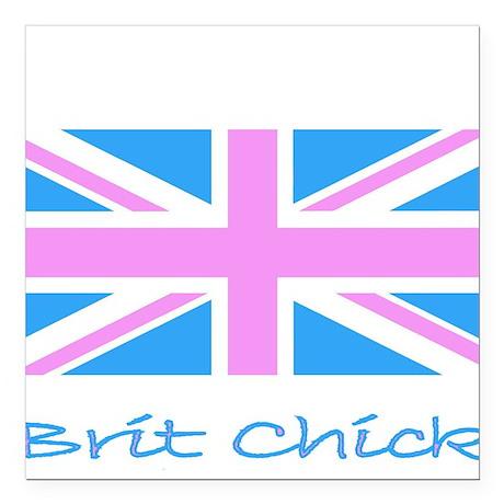 Brit Chick Square Car Magnet