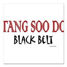 Tang Soo Do Black Belt 1 Square Car Magnet