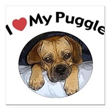 Puggle Square Car Magnet