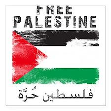 Free Palestine ( filistin hur Square Car Magnet