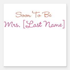 Orange & Pink Custom Soon to Be Mrs. Square Car Ma