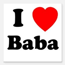 I heart Baba Square Car Magnet
