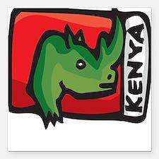 Kenya Design Square Car Magnet