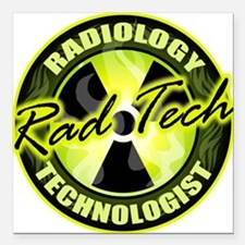 Radiology Technologist Square Car Magnet
