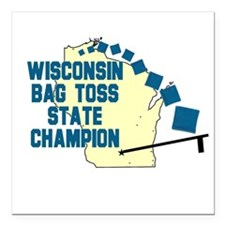 Wisconsin Bag Toss State Cham Square Car Magnet