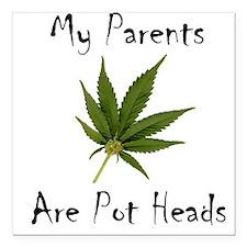 Legalize Marijuana Cannabis Flag Square Car Magnet