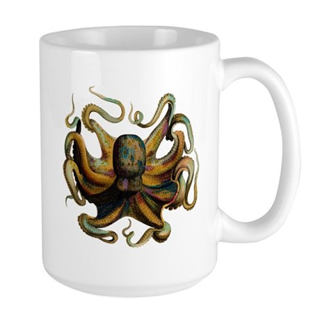 Colorful Octopus Swirling Tentacles Large Mug
