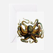 Colorful Octopus Swirling Tentacles Greeting Card