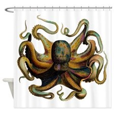 Colorful Octopus Swirling Tentacles Shower Curtain