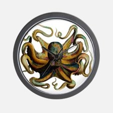 Colorful Octopus Swirling Tentacles Wall Clock