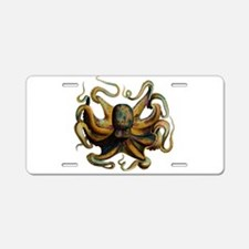 Colorful Octopus Swirling Tentacles Aluminum Licen