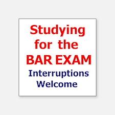 """Bar Exam Square Sticker 3"""" x 3"""""""