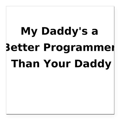 Programmer Daddy Creeper Square Car Magnet