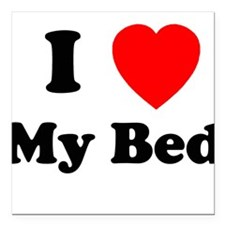 My Bed Square Car Magnet