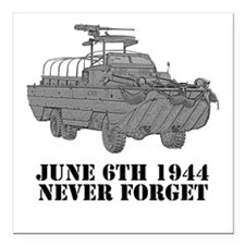 D-Day Square Car Magnet