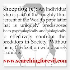 Sheepdog Definition Square Car Magnet