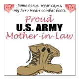 Army dad combat boots Square Car Magnets