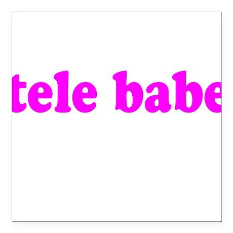 Tele Babe Square Car Magnet