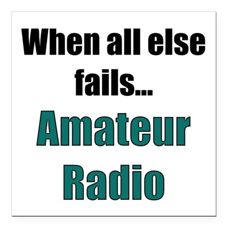 When all else fails..Amateur Radio Square Car Magn