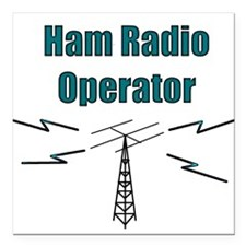 Ham Radio Operator Square Car Magnet