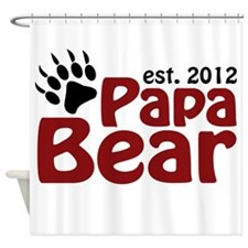 Papa Bear Claw Est 2012 Shower Curtain