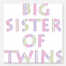 Big Sister of Twins Square Car Magnet