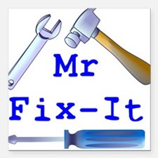 Mr Fix It Square Car Magnet