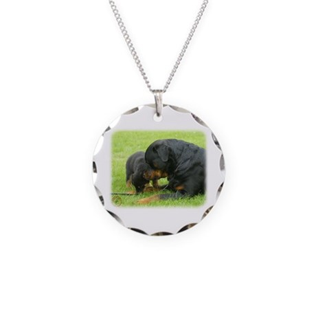 Rottweiler 9W025D-079 Necklace Circle Charm