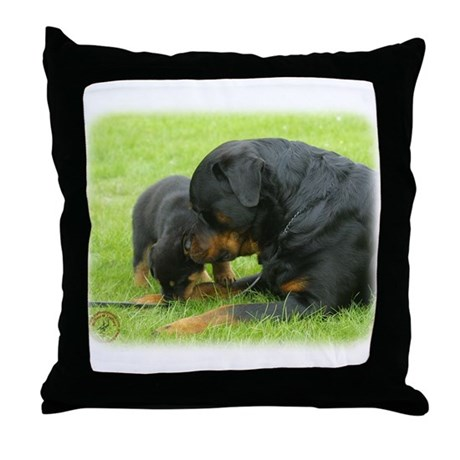Rottweiler 9W025D-079 Throw Pillow