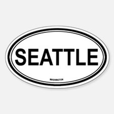 Seattle (Washington) Oval Decal