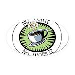 coffeecuptrans.png Oval Car Magnet