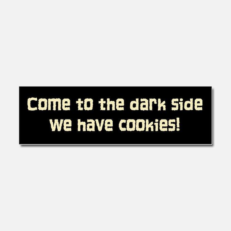 darkside pink cookies.png Car Magnet 10 x 3