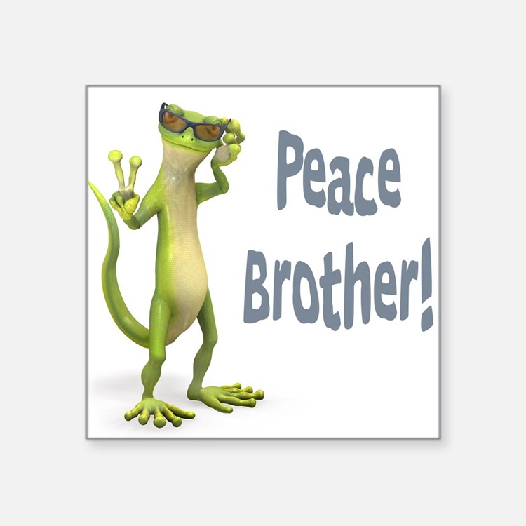 "peacebrother.png Square Sticker 3"" x 3"""