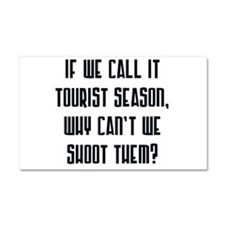 touristseason2.png Car Magnet 20 x 12