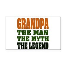 Grandpa the Legend Rectangle Car Magnet