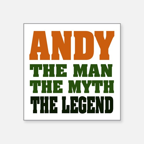 "ANDY1.png Square Sticker 3"" x 3"""