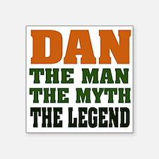 """Dan the Legend Square Sticker 3"""" x 3"""""""