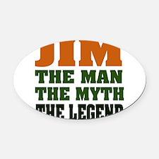 JIMMML.png Oval Car Magnet