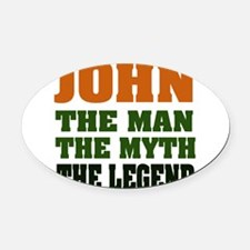 johnMML.png Oval Car Magnet