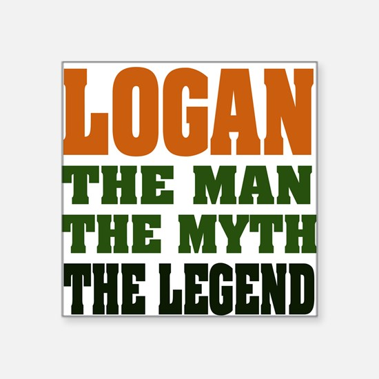 "LOGAN.png Square Sticker 3"" x 3"""