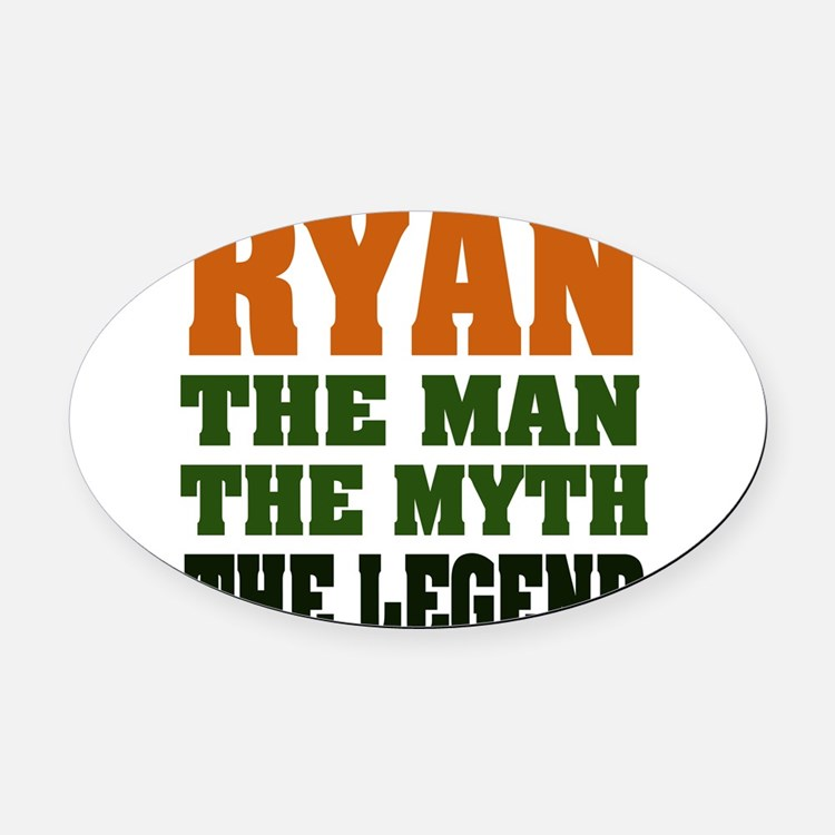 RYAN.png Oval Car Magnet
