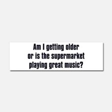 supermarket music dark.png Car Magnet 10 x 3