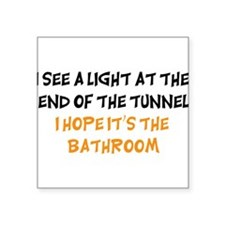 """end of the tunnel dark.png Square Sticker 3"""" x 3"""""""