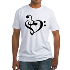Treble Bass Heart - Light Shirt T-Shirt