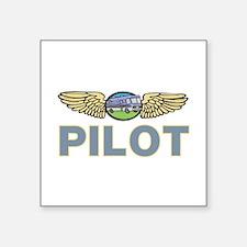 "RV Pilot Square Sticker 3"" x 3"""