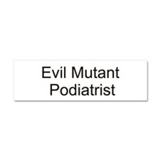 Cute Podiatrist Car Magnet 10 x 3